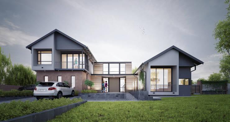 Houghton House: modern Houses by Urban Habitat Architects