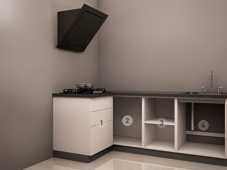 Internal View:  Kitchen by CapriCoast Home Solutions Private Limited
