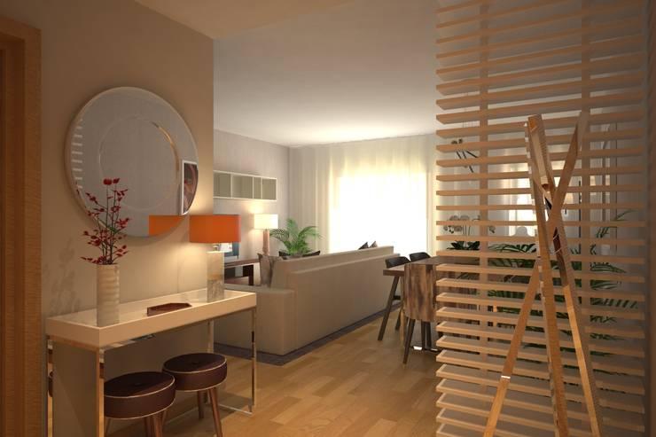 LIVINGROOM: Corredores e halls de entrada  por Red Centre - Design & Feng Shui