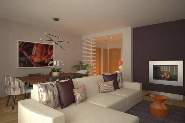 LIVINGROOM: Salas de estar  por Red Centre - Design & Feng Shui
