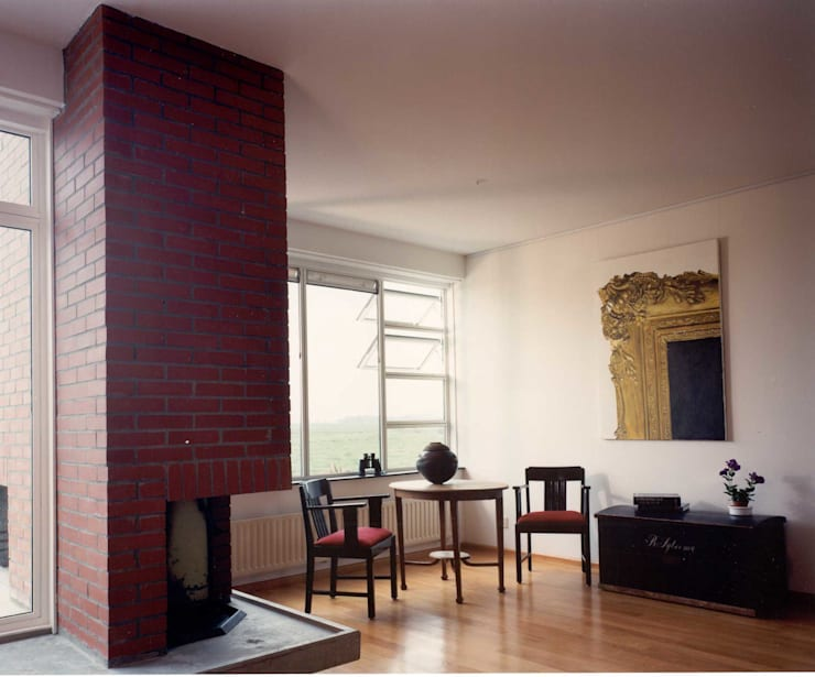 interieur:  Woonkamer door Voets Architectuur en Stedenbouw