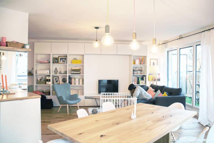غرفة السفرة تنفيذ Belle Ville Atelier d'Architecture
