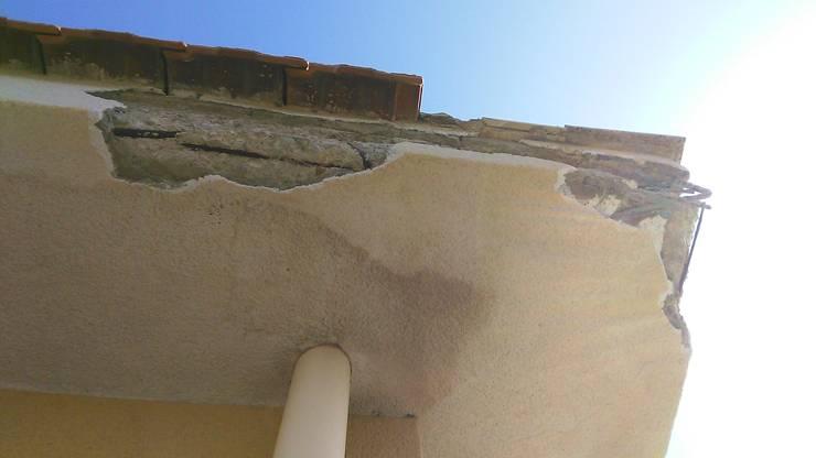 risanamento dello spigolo di una pensilina in cemento armato
