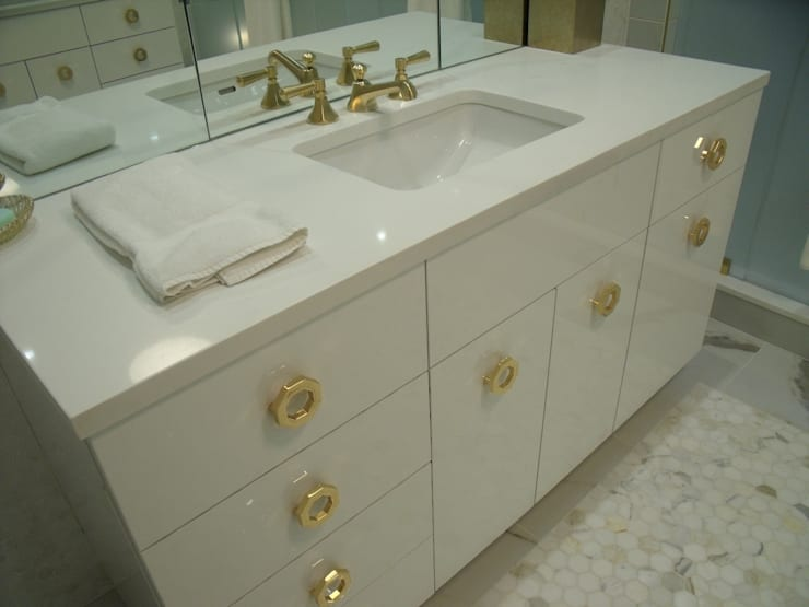 Jersey Shore Beach House Bathrooms: modern Bathroom by Kitchen Krafter Design/Remodel Showroom