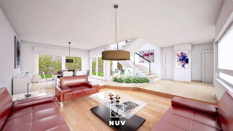 modern Living room by NUV Arquitectura