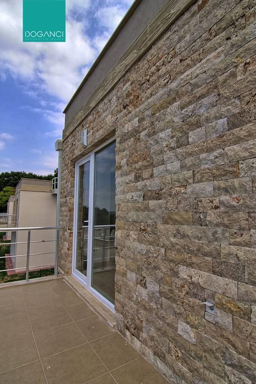 Doğancı Dış Ticaret Ltd. Şti. – Bahia Sitesinde yaptığımız taş kaplama uygulaması:  tarz Duvarlar, Endüstriyel Taş