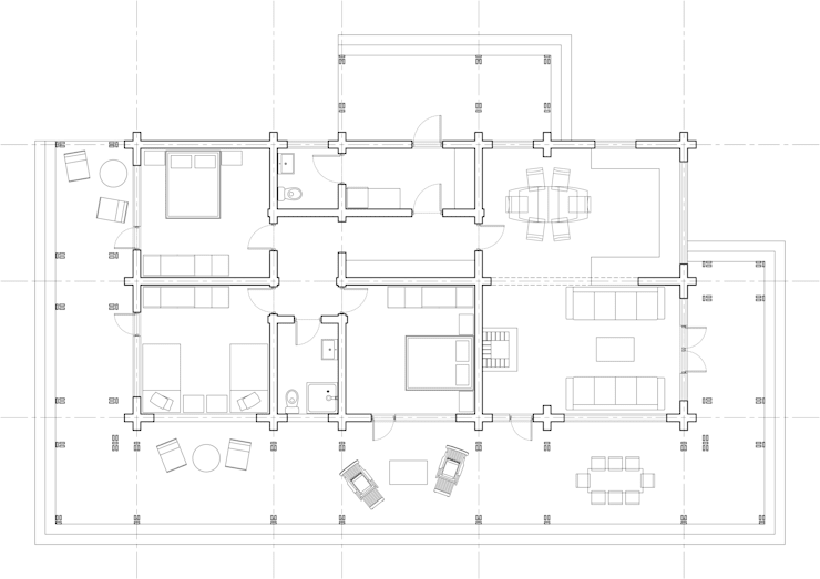 Дом из лафета.: Дома в . Автор – Архипарни