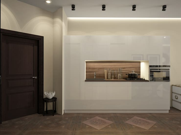 townhouse in modern style: modern Kitchen by design studio by Mariya Rubleva