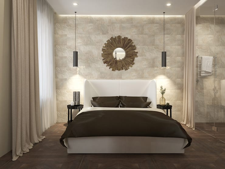 modern Bedroom by design studio by Mariya Rubleva