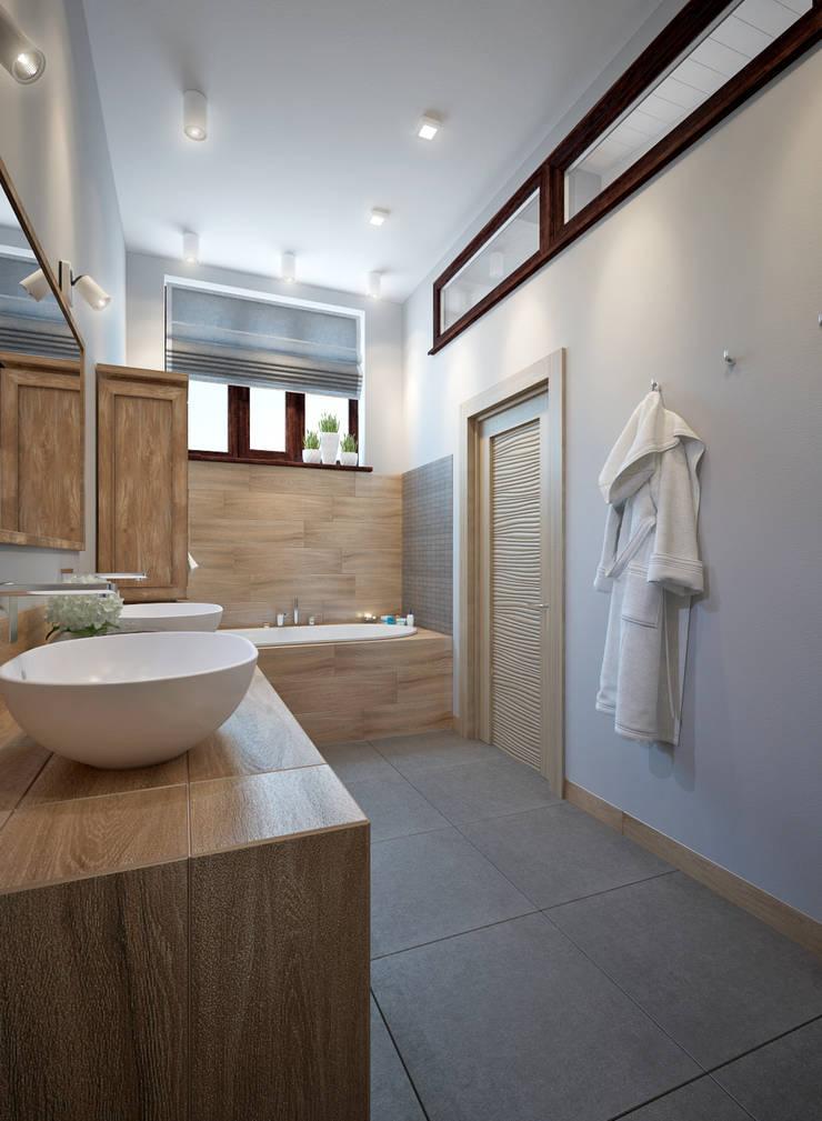 townhouse in scandinavian style:  Bathroom by design studio by Mariya Rubleva
