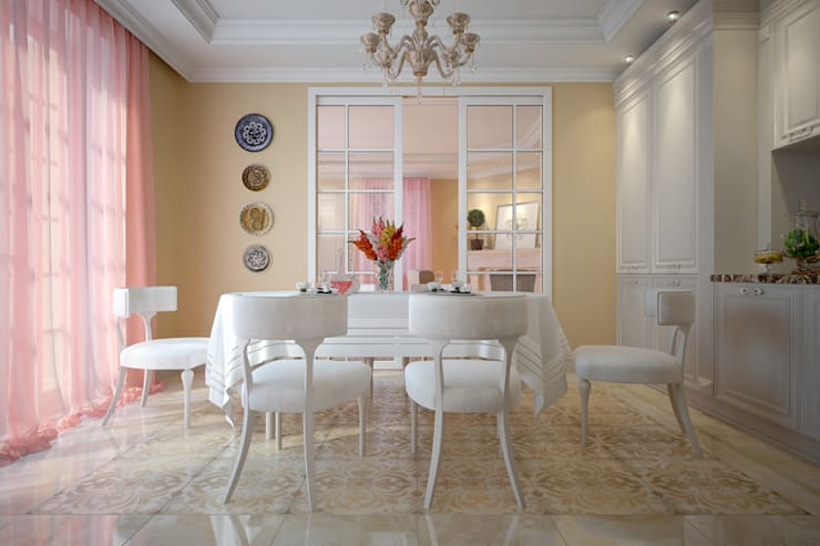 Dining room by design studio by Mariya Rubleva