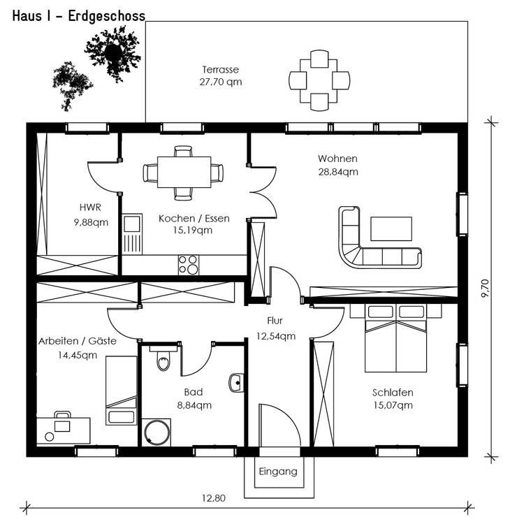 Müllers Büro:  tarz Evler
