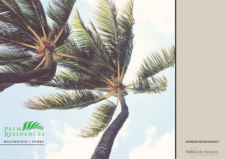 Projecto de design de interiores - Palm Residences:   por Esfera de Imagens Lda