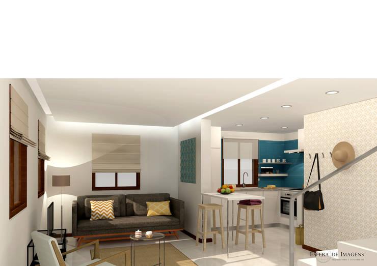 Projecto de design de interiores - Palm Residences Moradia T1:   por Esfera de Imagens Lda