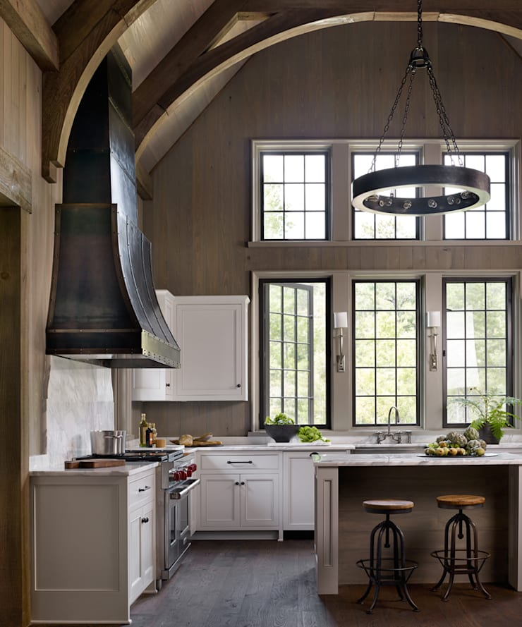 Cottage on the River:  Kitchen by Jeffrey Dungan Architects
