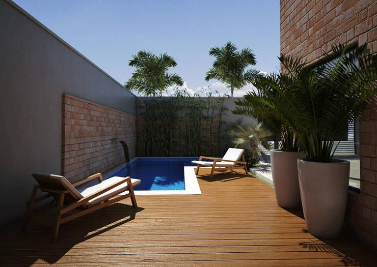 Casa BT : Piscinas  por canatelli arquitetura e design