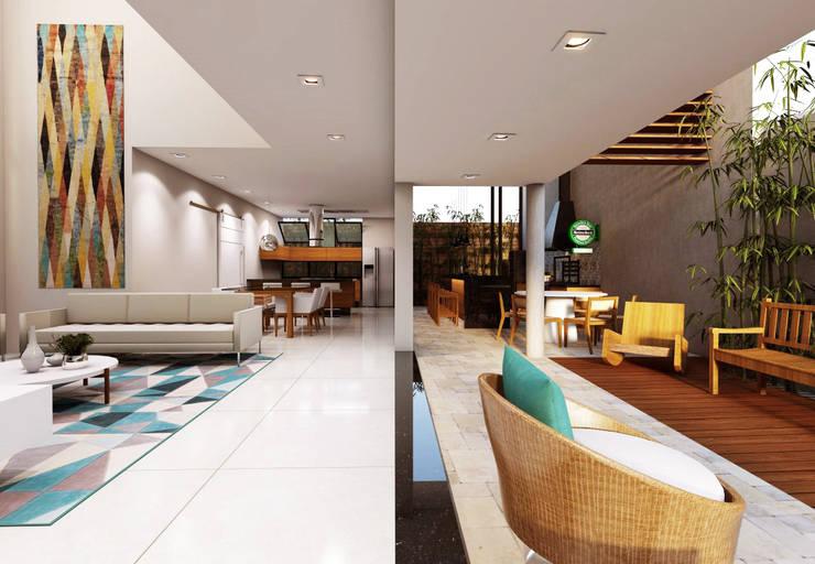 Casa BT : Salas de estar  por canatelli arquitetura e design