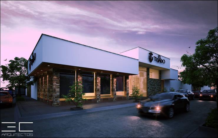 Restaurant El Tejado [Romita, Gto]: Bares y discotecas de estilo  por 3C Arquitectos S.A. de C.V.