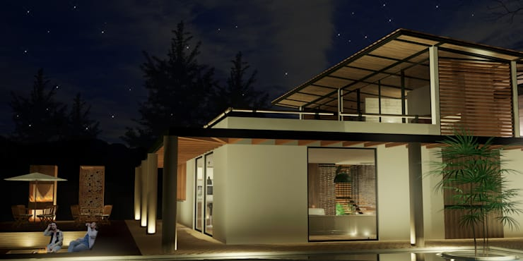 Casa Villegas: Casas de estilo  por Gamma