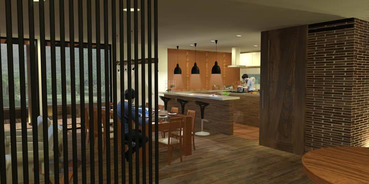 Casa Villegas: Comedores de estilo  por Gamma