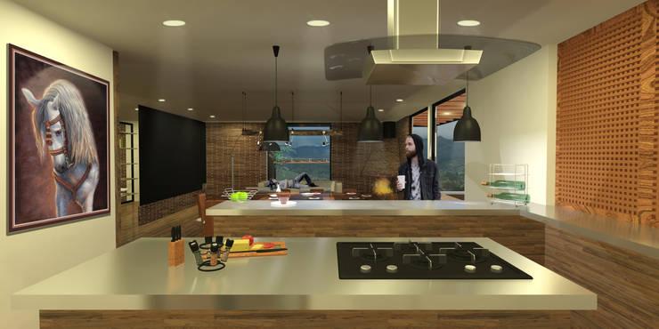 Casa Villegas: Cocinas de estilo  por Gamma