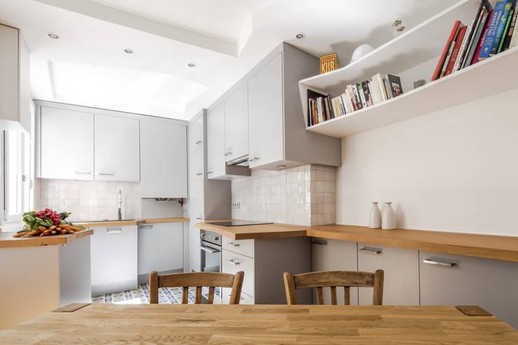 Cocinas de estilo  por Florence Gaudin architecte