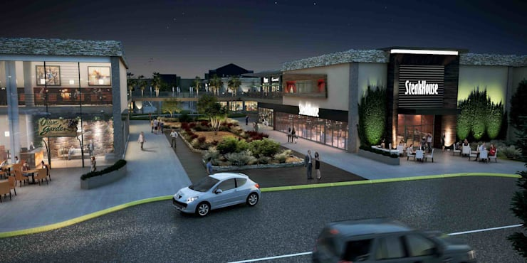 Drop-off área de restaurantes: Centros Comerciales de estilo  por Segovia ARQ