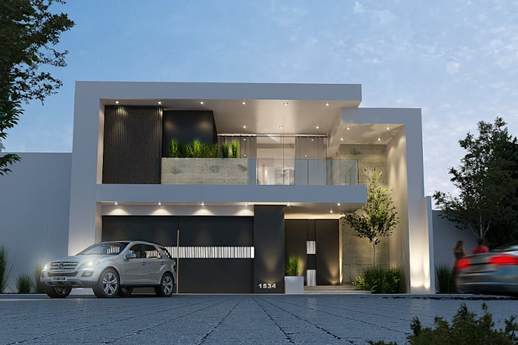 Houses by Mstudio Arquitectura+Construccion