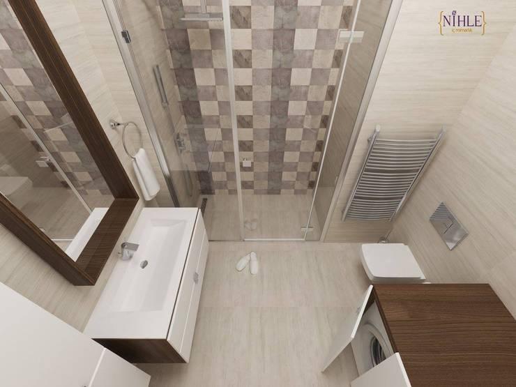 nihle iç mimarlık – KONSEPT YAPI YILDIZ PARK ÖRNEK DAİRE:  tarz Banyo