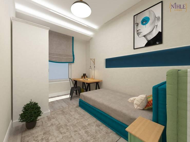 nihle iç mimarlık – KONSEPT YAPI YILDIZ PARK ÖRNEK DAİRE:  tarz Çocuk Odası