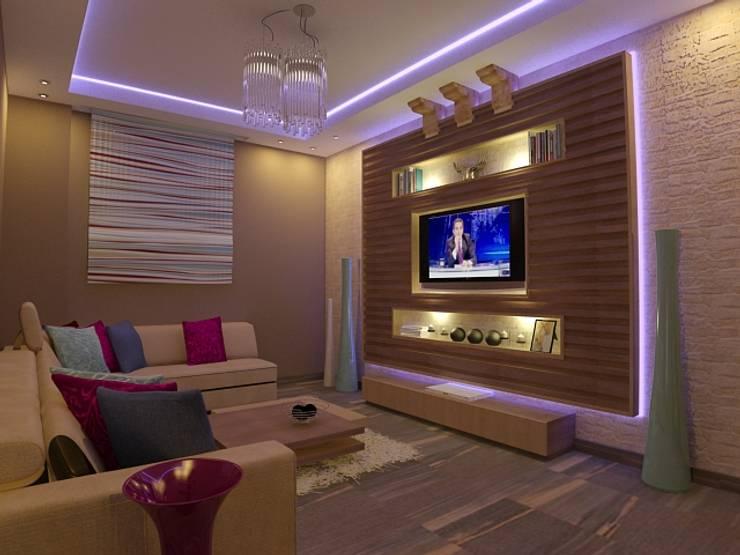 A TARYAL FLAT.jpg:  غرفة المعيشة تنفيذ haitham hamdy designs