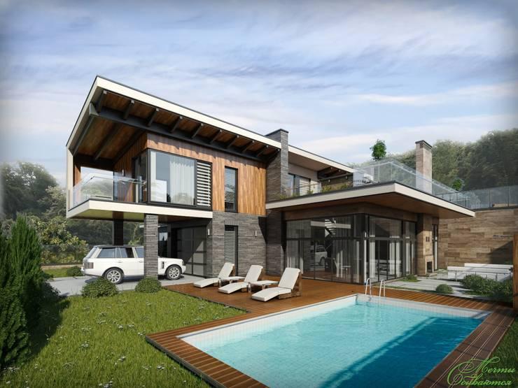 Первый дом из серии  Art Village:  в . Автор – Компания архитекторов Латышевых 'Мечты сбываются'