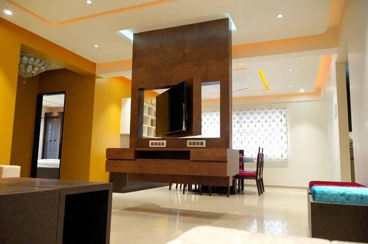Maniar's: modern Living room by mithil gandhi - interior designer