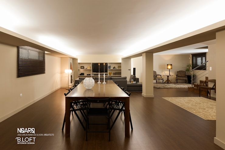 Espaço de Jantar: Salas de jantar  por B.loft