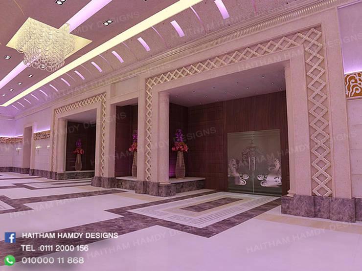 مدخل قاعات :  تصميم مساحات داخلية تنفيذ haitham hamdy designs