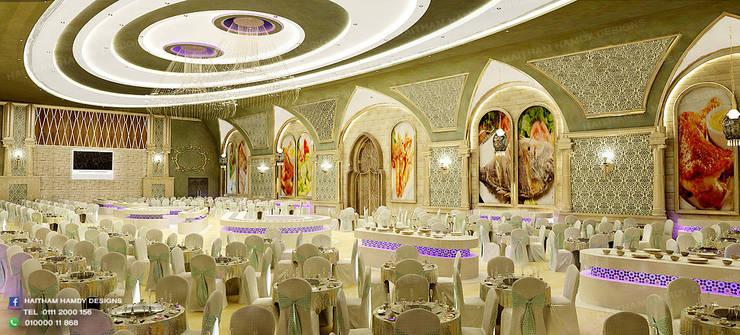قاعه طعام رئيسيه:  تصميم مساحات داخلية تنفيذ haitham hamdy designs