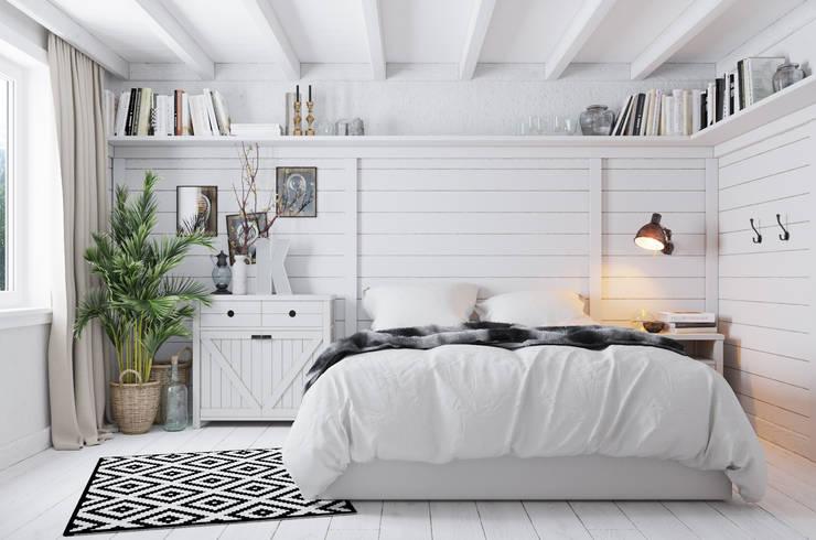 Dormitorios de estilo escandinavo por Home in the Woods