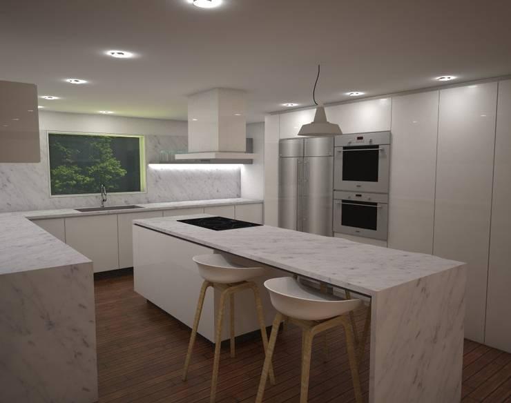 Casa MIAMI - HT: Cocinas de estilo  por Proyectos JARQ