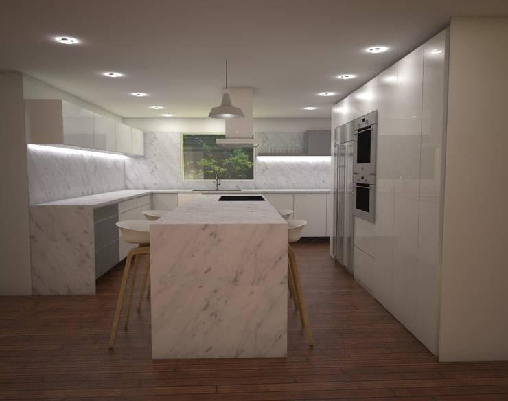 Casa MIAMI - HT: Cocinas de estilo moderno por Proyectos JARQ