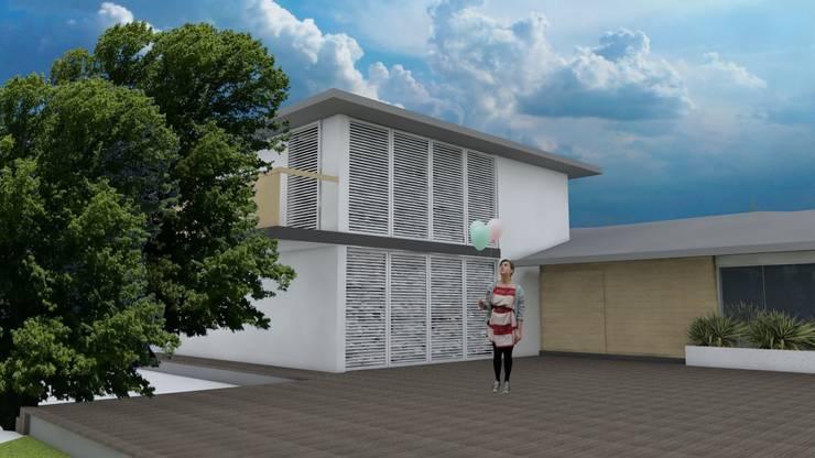 Casa MIAMI – HT: Casas de estilo  por Proyectos JARQ