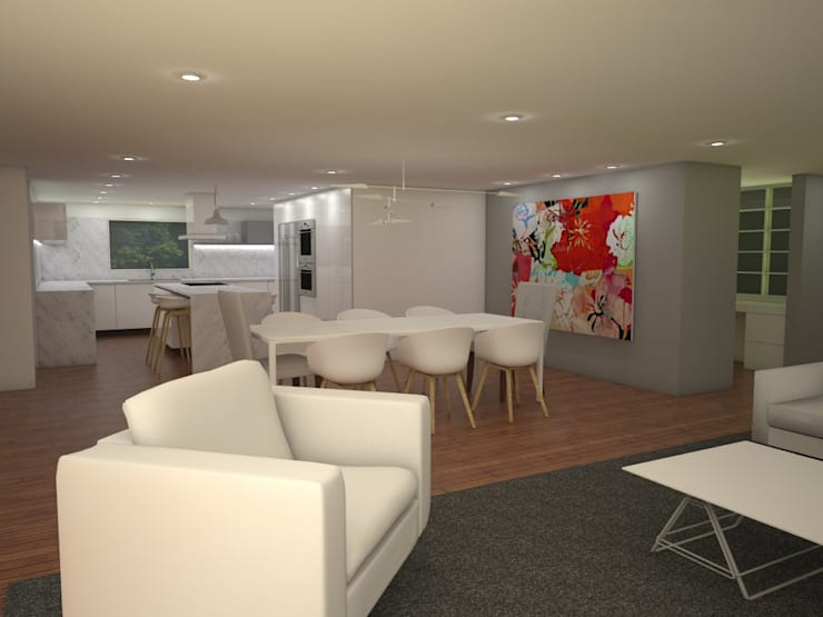 Casa MIAMI – HT: Comedores de estilo  por Proyectos JARQ
