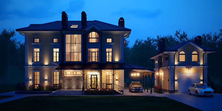 Проект дома с гаражом 600 кв.м.: Дома в . Автор – LEO Company