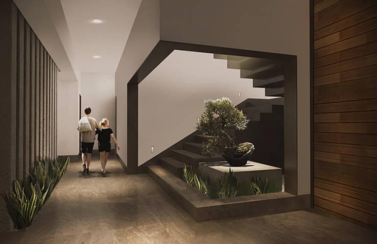 Ingresso, Corridoio & Scale in stile moderno di Estudio Volante Moderno Marmo