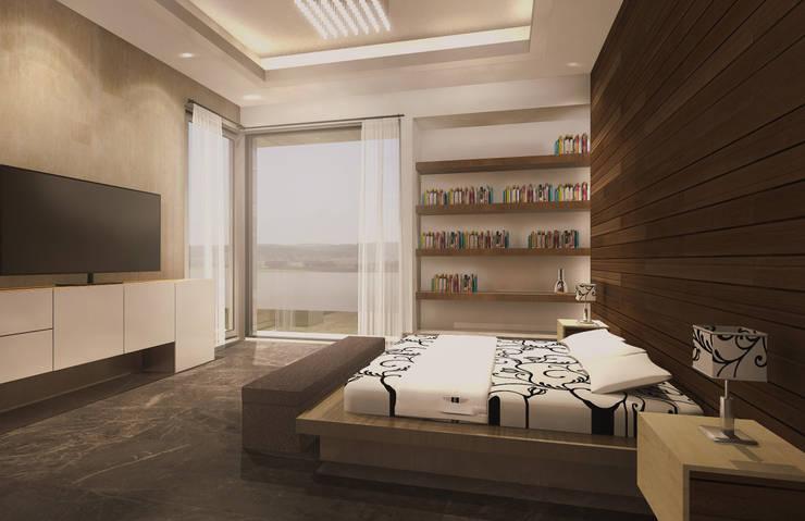 Camera da letto moderna di Estudio Volante Moderno Marmo
