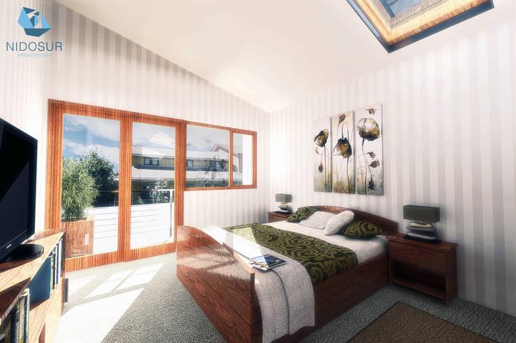 Dormitorio: Dormitorios de estilo  por NidoSur Arquitectos