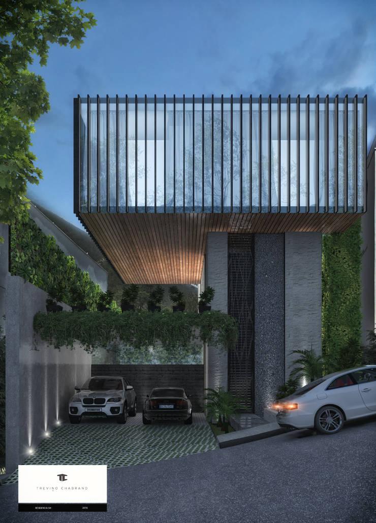 RESIDENCIA SH: Casas de estilo  por TREVINO.CHABRAND | Architectural Studio