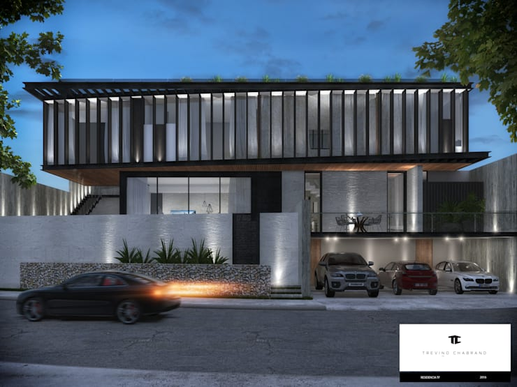 Modern houses by TREVINO.CHABRAND | Architectural Studio Modern