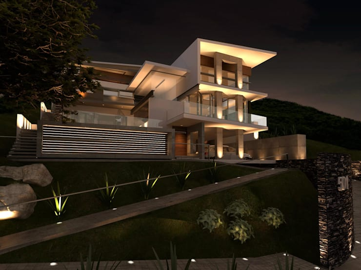 RESIDENCIA SIERRA ALTA: Casas de estilo  por TREVINO.CHABRAND | Architectural Studio