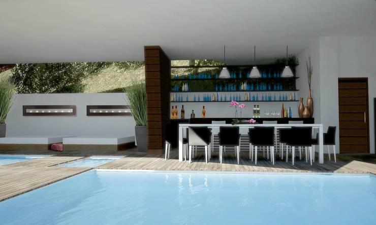 RESIDENCIA SELEKTO STUDIO Y HOME: Albercas de estilo  por TREVINO.CHABRAND | Architectural Studio