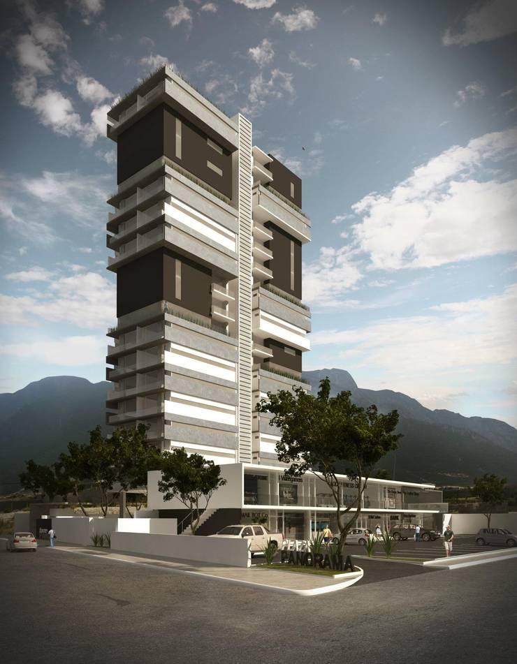 TORRE PANORAMA: Casas de estilo  por TREVINO.CHABRAND | Architectural Studio